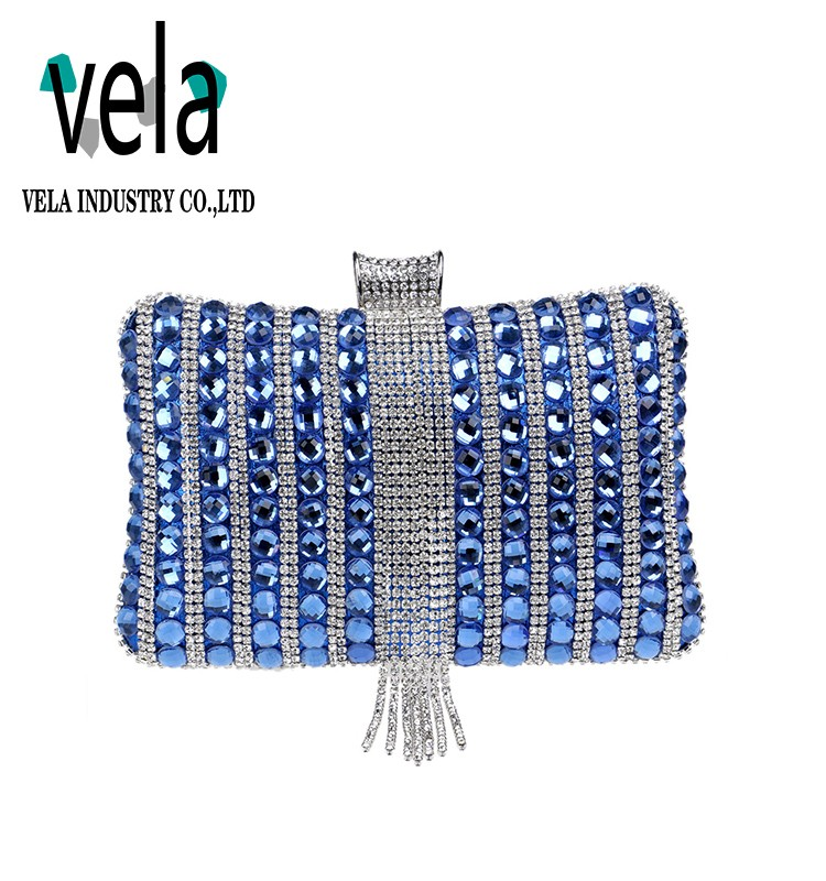 Hot Cake Hard Stone Diamond Clutch Evening Bag In Rhinestone For Party