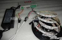 5m DC5V WS2812B led pixel srip,non-waterproof;+T-1000S sd car controller+5V/60W power supply
