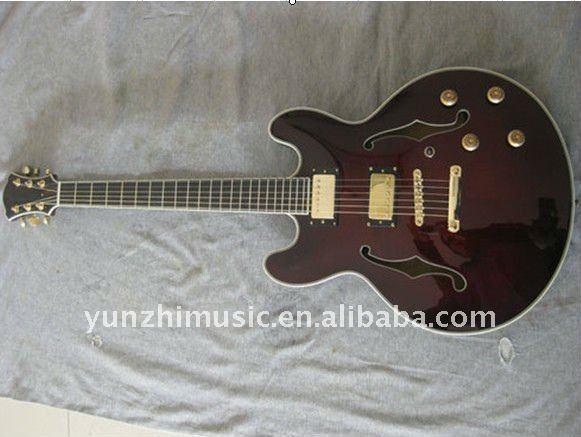 yunzhi laminated wood half handmade electric guitar