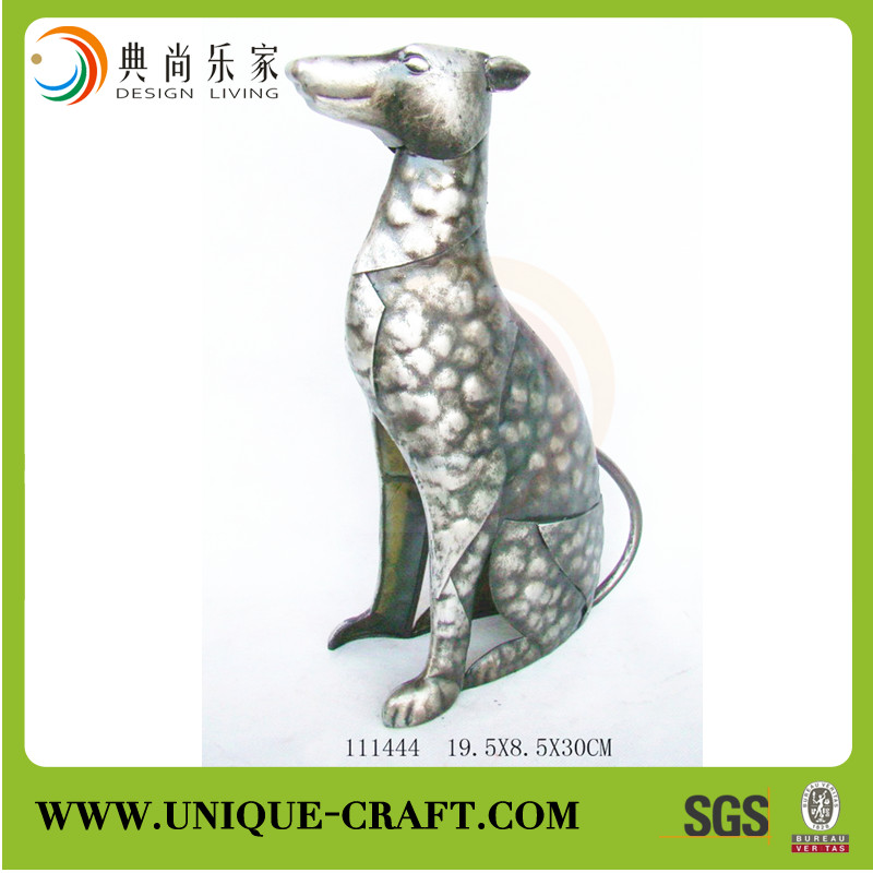 New product antique style decorative dog metal showpieces for home decoration