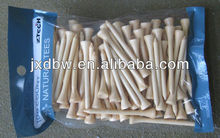 Super Quality Customized Design Prepack Wood Golf Tees Wholesale