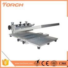 Cheap small steel manual SMT high precision screen printer / screen printing machine