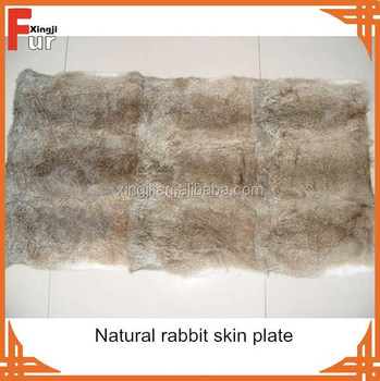 Wholesale Chinese natural brown rabbit skin plate