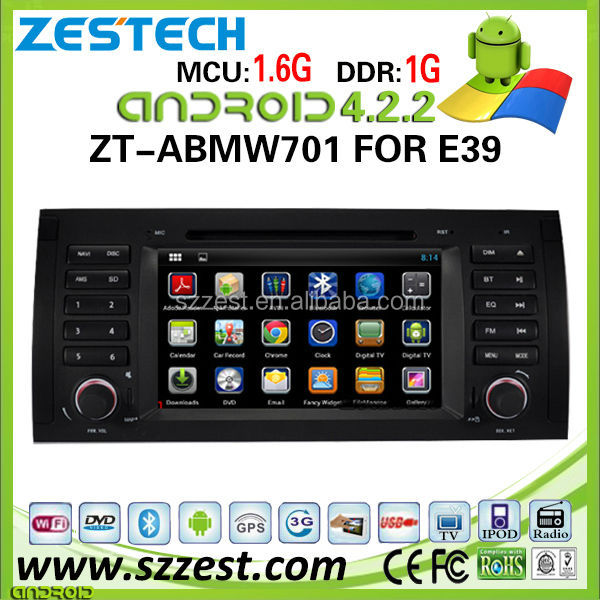 ZESTECH car dvd player for BMW E39 car dvd player DVR Android 4.2.2 capacitive multi touch screen