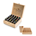 Laser Cut Logo Wood Essential Oil Storage Box