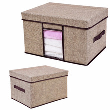 Cloth Organizer Box Foldable Houshold Storage Bin with Lid