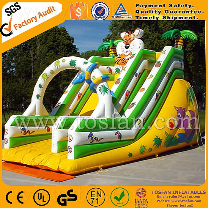 Cheap inflatable slide playground equipment used inflatable water slide for sale A4017