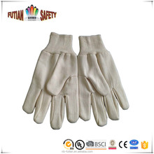 FTSAFETY High Quality White Cotton Canvas, Clute Patter Straight Thumb Knit Wrist Working Gloves