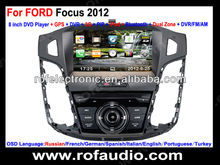 For Ford focus 2012 car dvd with dual zone