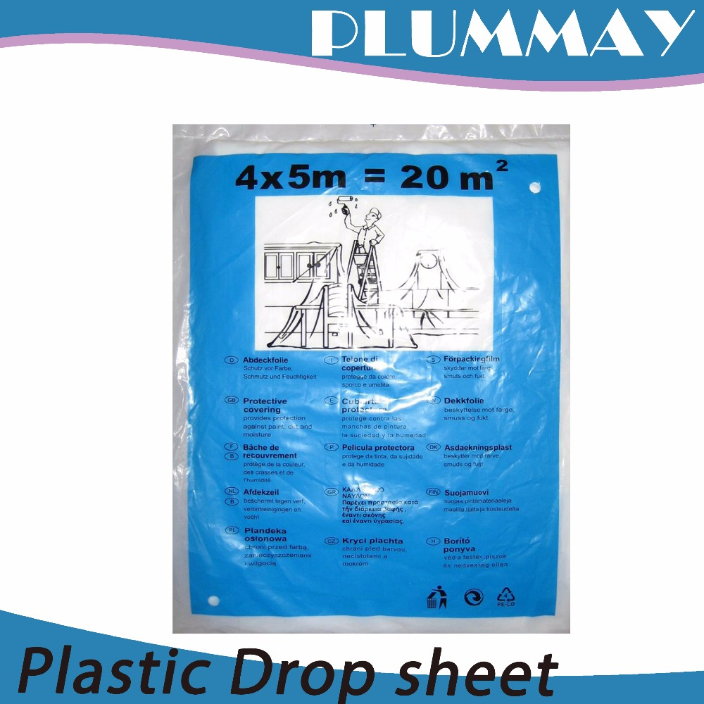 China plastic drop sheet / dust sheet for diy painting