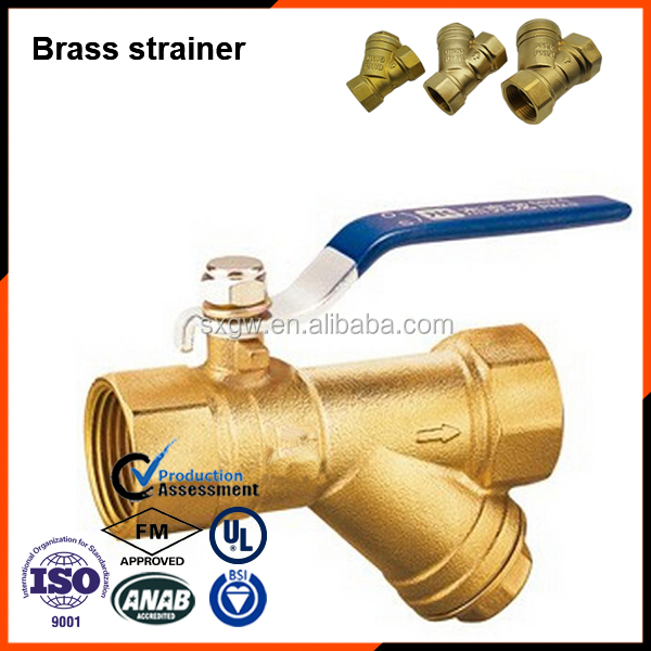 Brass material valves BSPT thread Forged strainers