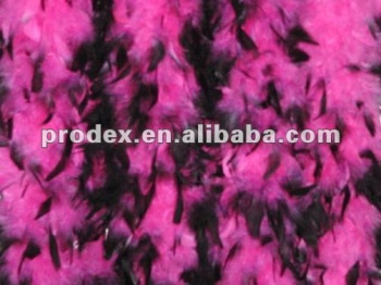 black tips turkey feather boa, party costume feather boa