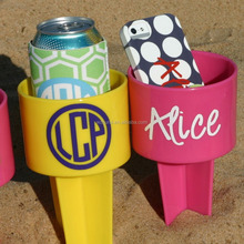 Monogrammed Beach Spike beach Cup Holder