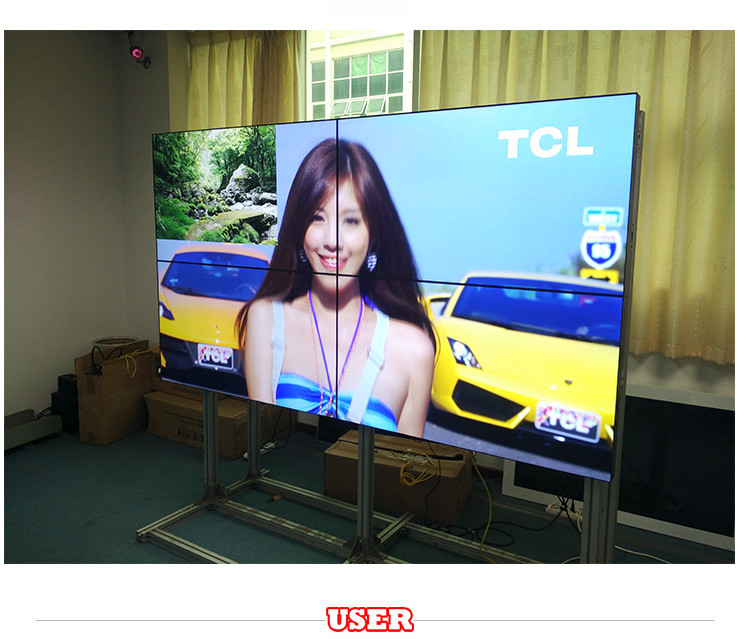 USER 47inch meeting mall advertising videos in video wall 4.9mm super narrow bezel FHD video wall 2 x 2