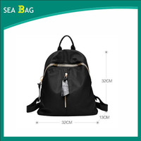 Custom black PU girls leather backpack bags womens leather backpack