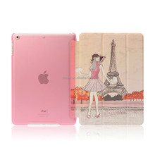 New arrival DDC factory Eiffel Tower image PC and PU leather cover case for ipad for ipad mini