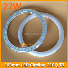 G10Q socket T9 300mm circline clear or milky cover circular led light 22W