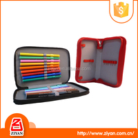 Kids PVC painting brushes double sided pencil case with zipper