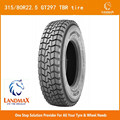 new tire truck wholesale tire/tyre for sale TBR tire GT297 315/80R22.5 with perfect performance