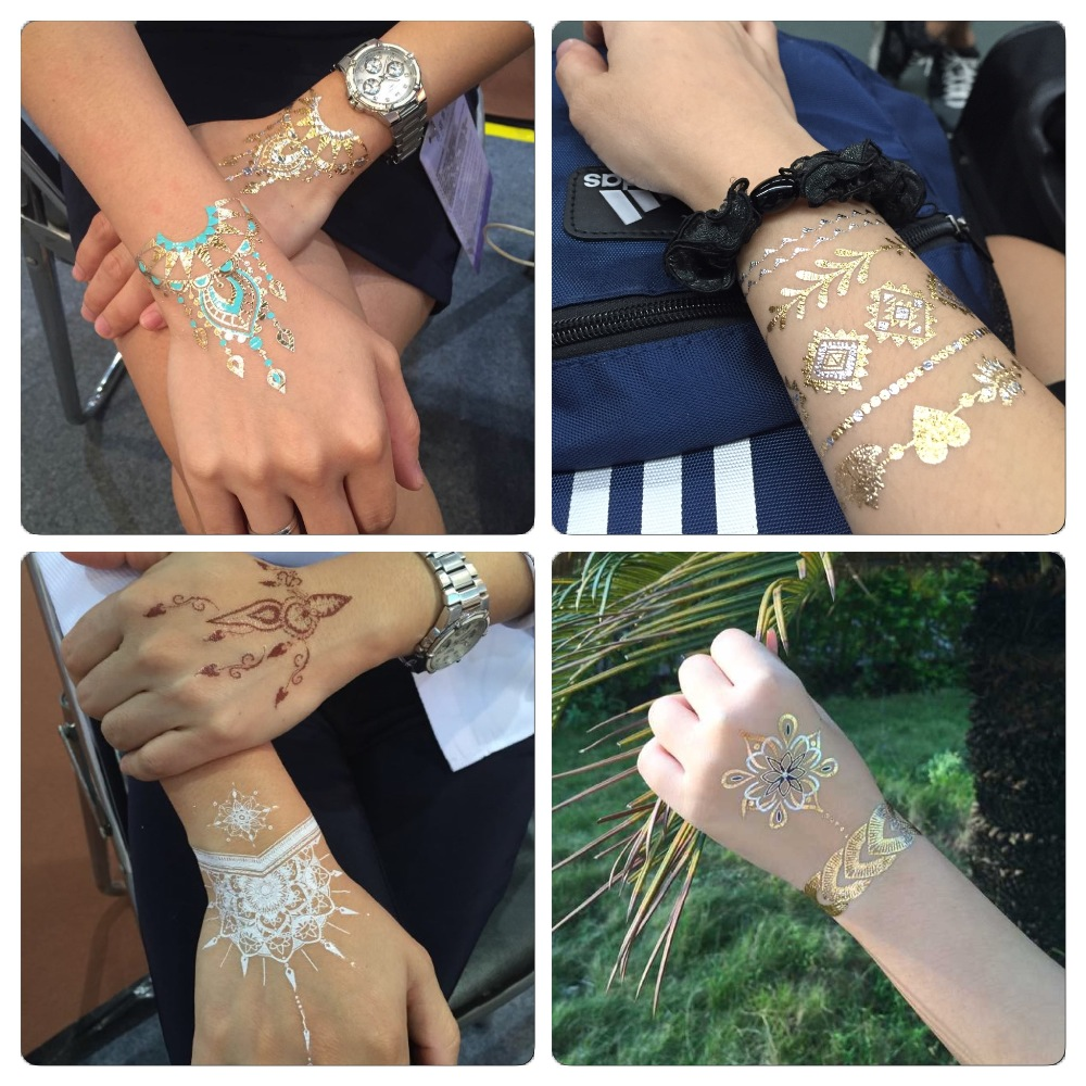 GMP Manufacturer Gold Temporary Tattoos Hot Sell Jewelry Body Tattoo