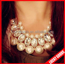 2014 handmade women custom pearl fashion neckless