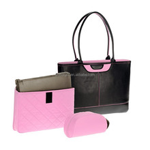 Office Ladies Tote Briefcases Shoulder Handbag Purse Vintage Collection Women Leather Laptop Bags Work Attach Case