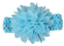 Colorful Big Chiffon Flower Decorative Elastic Headband