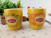 Hunan bulk promotional ceramic coffee mug with Lipton logo