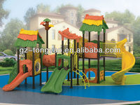 plastic outdoor playground equipment curved slide playground slides