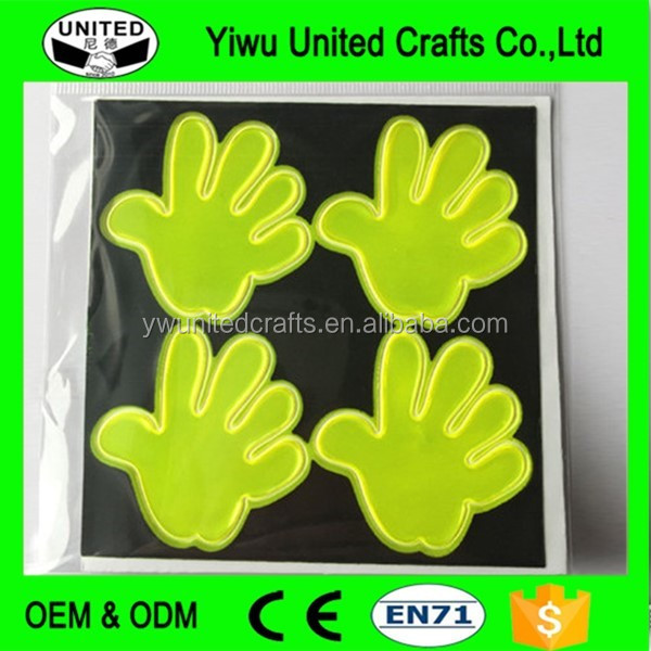 PVC Safety Reflective Material Product Smile Reflective Sticker