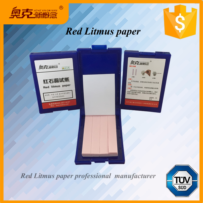 red litmus paper Litmus paper is made from wood cellulose that is infused with an aqueous solution consisting primarily of lichens during the production of red litmus paper, the lichens are left to ferment in potassium carbonate, ammonia, and a small amount of sulfuric or hydrochloric acid.