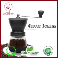 Manual Coffee Grinder | Conical Burr Mill for Precision Brewing | Brushed Stainless Steel Premium Burr Coffee Grinder