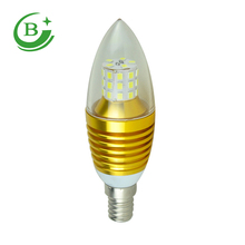 Manufacturer 7W patch e14 e27 led candle light for home lighting