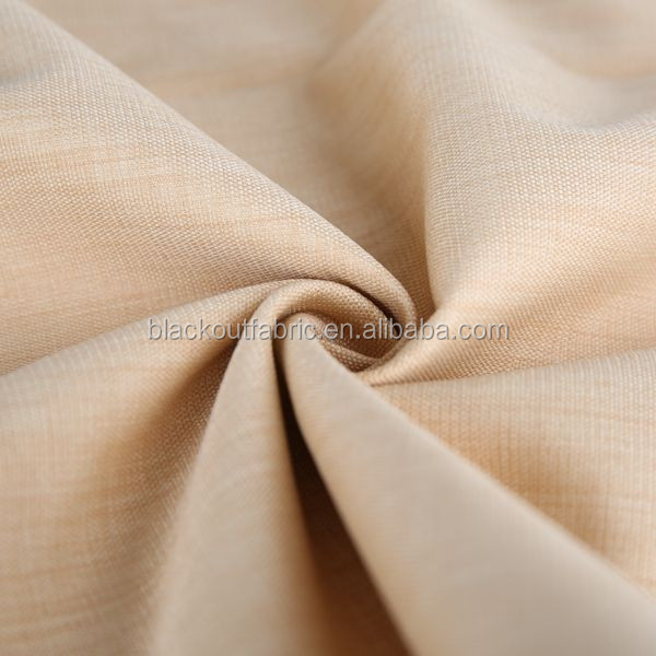 Sun proof Acrylic Foam Coating 3 Pass Blackout Fabric for Curtain