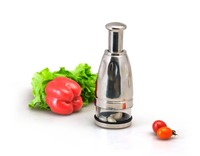S/S +ABS+PS+PP 6.5*6.5*18.5 Kitchen tools manual vegetable chopper/ginger garlic chopper/mini chopper