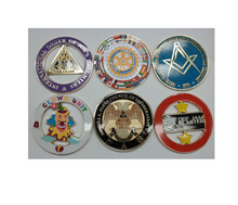 Hot Sales metal car bafge masonic car badge stickers in stock