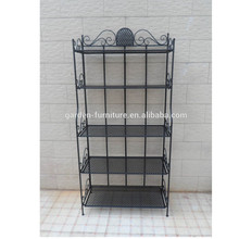 XY131142 Home Space Rack Wrought Iron Shelf Rack for Plants or Books and More, 4 Layer Metal Display Shelves Rack