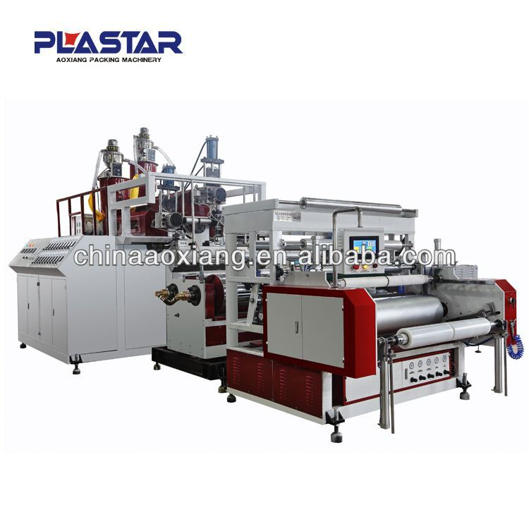 double layer stretch film making machine for a4 photocopy cling film ream wrap machine