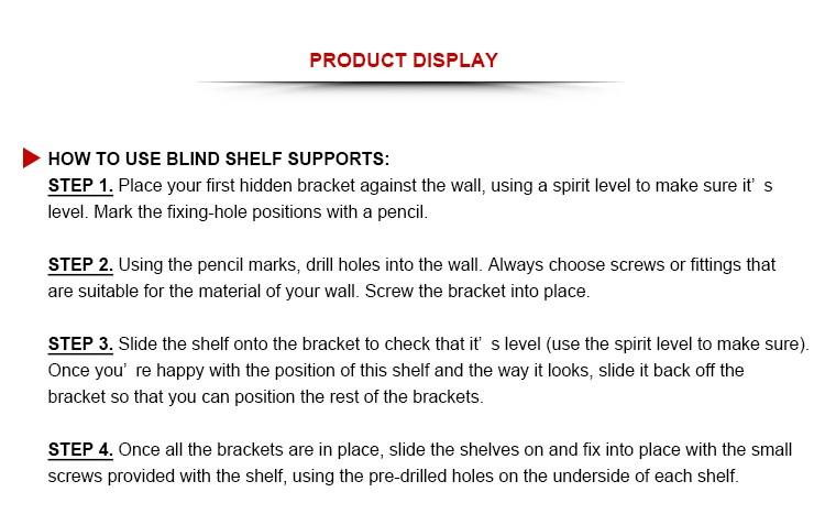 Invisible shelf wall brackets hidden shelf bracket concealable hardware for wood shelve