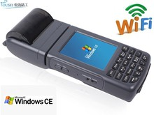 Handheld wirless windows CE data collector PDA TS-1000 with 1D barcode scanner/Wifi/58mm thermal receipt printer