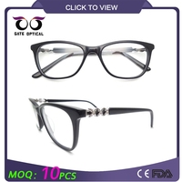 Promotional round frame eye glasses cheap acetate optical frame