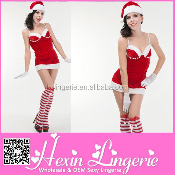 2014 Fashion top quality fat women sexy christmas costume