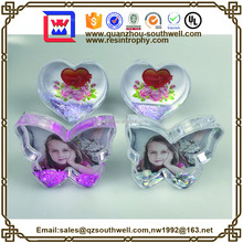 clear plastic photo snow domes for wedding gifts
