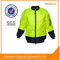 Star SG Custom yellow motorcycle leather reflective man outdoor jacket
