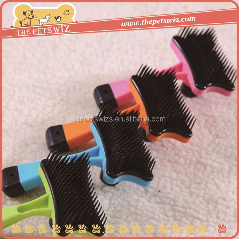 Plastic bottle with brush cap ,CC018 pet hair removal sillicon brush , pet dog self cleaning slicker brush