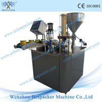 Paper bowl rotary filling machine and sealing machine