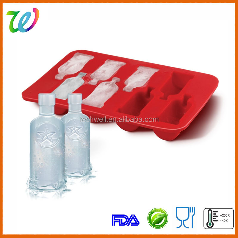 New design silicone wine bottle ice cube ice tray