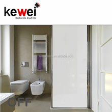 Switchable privacy Smart glass tint film,electric privacy glass for hotel, specially for bathroom