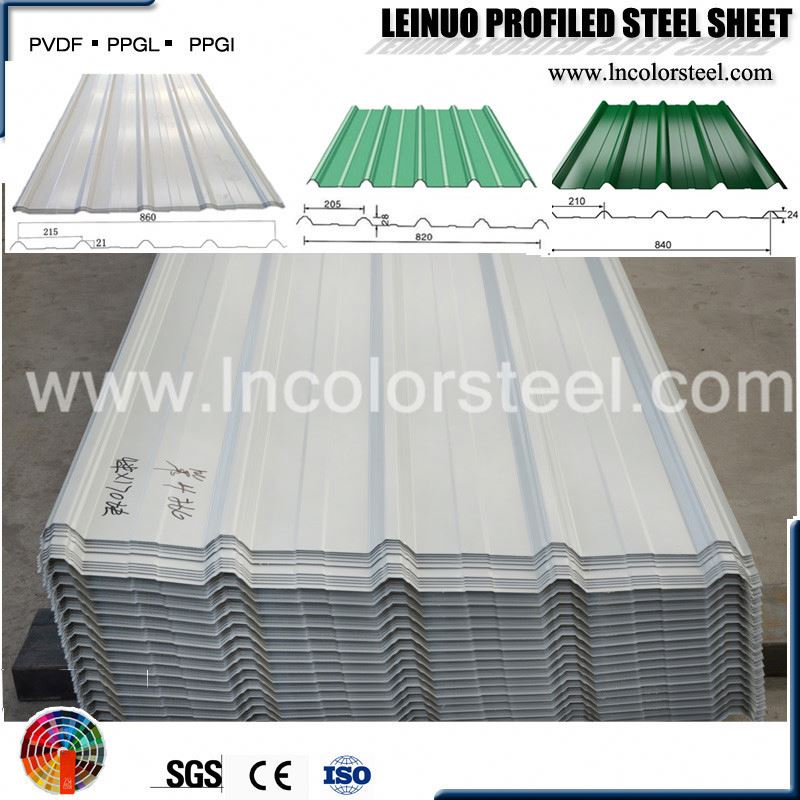 zinc aluminium coated width 820mm 10 ft galvanized steel corrugated roof panel
