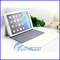 2014 Wireless Silicone Bluetooth Keyboard PU Leather Stand Case Cover for iPad Air/ iPad 5